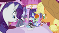 Rarity and Applejack look at unconscious Photo Finish S7E9.png