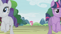 Rarity and Twilight leaving Pinkie S01E10.png