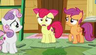S06E04 Apple Bloom przedstawia Znaczkowej Lidze swoje czarne mysli
