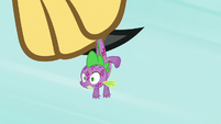 Spike hanging from the roc's claws S8E11