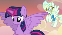 Twilight and Vapor proud of Sky Stinger S6E24