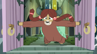 Yona bursting out of the castle S8E2