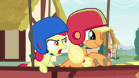 Apple Bloom shouting --go a little faster!-- S6E14