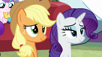 Applejack and Rarity listen to Twilight sing MLPBGE