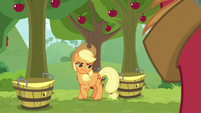 Applejack glaring at Big McIntosh S9E10