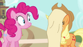 Applejack with scroll on her face S4E09.png