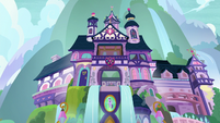 Lower exterior view of School of Friendship S8E2