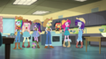 Mane Seven as cowgirls in the home-ec room EGS1.png