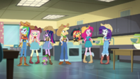 Mane Seven as cowgirls in the home-ec room EGS1