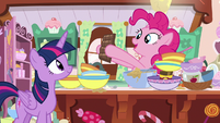 Pinkie Pie picks up a chocolate bar S7E23