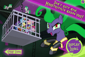 Power Ponies Go game over screen