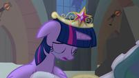 Princess Celestia begins to stand up S4E2