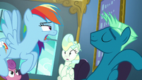 Rainbow Dash --that's pretty impressive-- S6E24