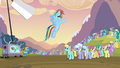 Rainbow Dash ordering the pegasi S2E22.png