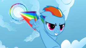 Rainbow Dash performing Sonic Rainboom S01E16