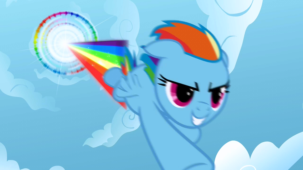 My Little Pony Characters Coloring Pages : Image rainbow dash performing sonic rainboom s01e16.png my