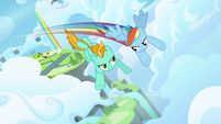 Rainbow and Lightning flying fast 2 S3E07