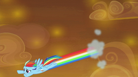 Rainbow soars back down to the ground S9E2