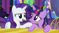 Rarity -you go to the Ponyville spa- S5E3
