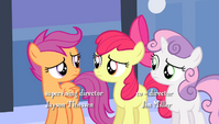 Scootaloo tells Apple Bloom -give it a rest- S4E24