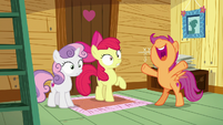 "Scootaloo yelling ""Camp Friendship!"" S7E21"