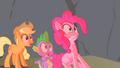 Spike Applejack & Pinkie Scared S1E15.png