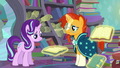 Starlight looks at the book; Sunburst stops stating the books' titles S6E2.png