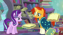 Starlight looks at the book; Sunburst stops stating the books' titles S6E2
