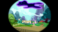 Tantabus in the sky over Ponyville S5E13
