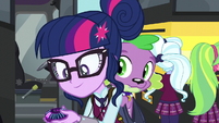 Twilight and Spike follow the magic EG3