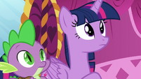 Twilight hears her friends laughing S5E22