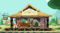 Yaks at the train station S5E11