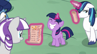 Young Twilight Sparkle proud of herself S9E4