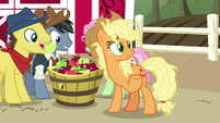 "Applejack ""friends are like family and whatnot"" S7E14"