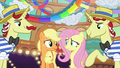Applejack and Fluttershy having second thoughts S6E20.png