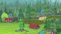 CHS bus arrives at Camp Everfree EG4