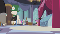 Chrysalis as Cadance walking up to the mirror S2E26.png