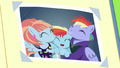Close-up on photo of Bow and Windy hugging Baby Rainbow S7E7.png