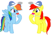 FANMADE Rainbow Dash and Crimson Blowing Whistles