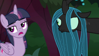 Fake Twilight rolls her eyes at Chrysalis S8E13