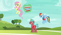 Fluttershy and first tryout unicorn ready to play S6E18.png