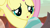 Fluttershy baby-talking to dragon egg S9E9