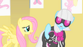 Fluttershy trying to talk to Photo Finish S1E20.png