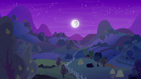 Moon shining over apple and pear farms S7E13