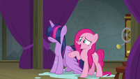Pinkie Pie -just like a burning marshmallow!- S8E7