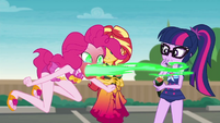 Pinkie Pie breathing green fire EGDS13