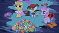 Ponies offering candies for Princess Luna S02E04.png