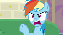 "Rainbow Dash ""Rarity's hat was blocking"" S8E17"
