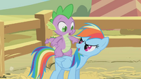 Rainbow Dash -Ready for another pony ride-- S1E13