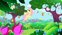 S01E03 Fluttershy pośród drzew w królewskim ogrodzie